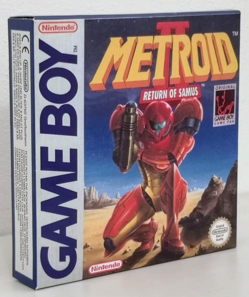 Metroid II: Return of Samus (1992 Nintendo Game Boy), vista copertina frontale