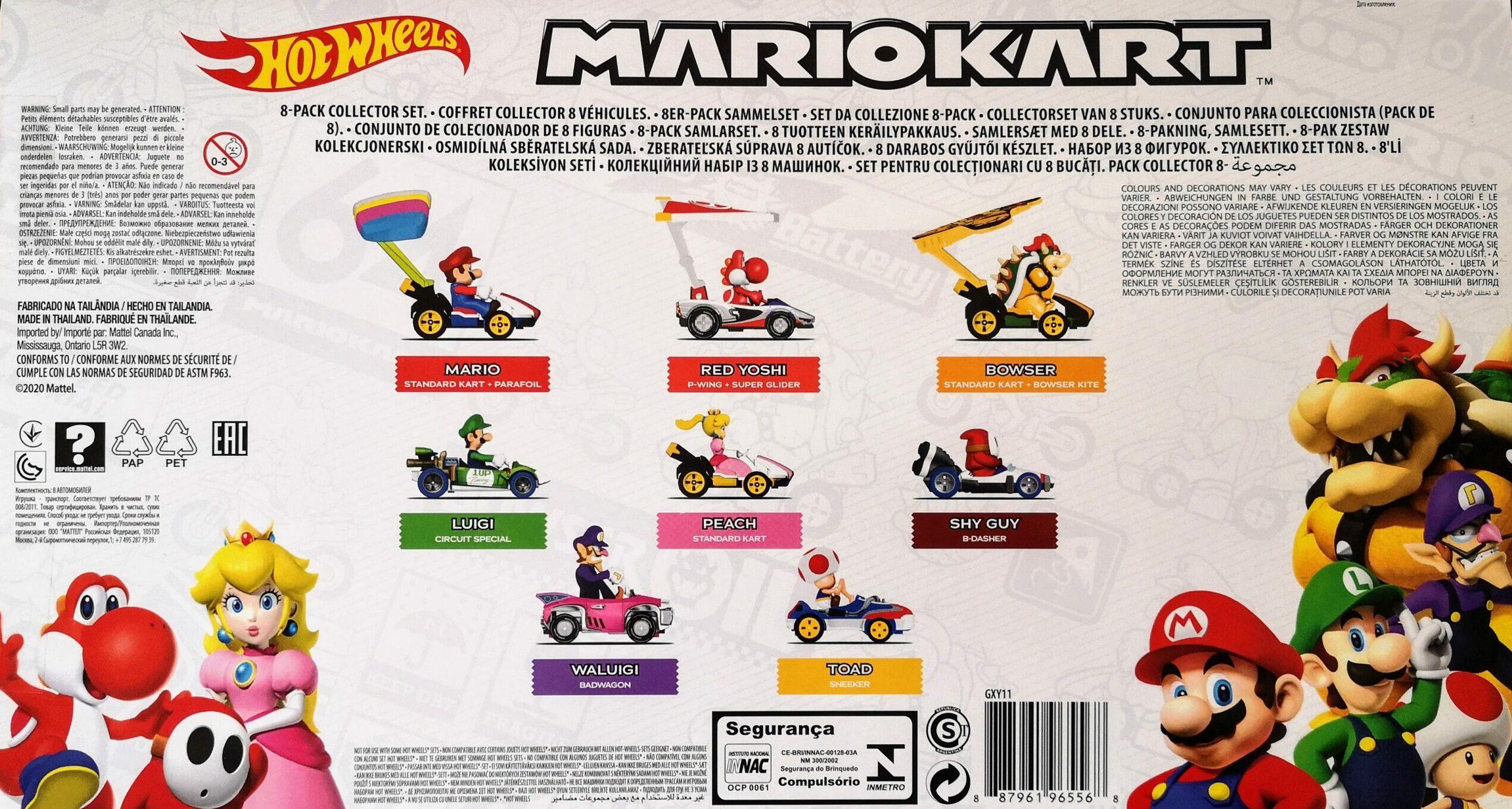 MarioKart 8-Pack Collector Set GXY11 back